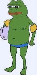 Swimming Pepe