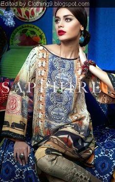 Sapphire Textile  Outfits 2015  Khadijah Shah Dresses Design2015 (13)