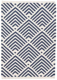 Dash and Albert - Cleo Navy Indoor/Outdoor Rug - Entry and Stair