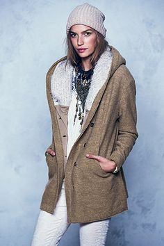 Warm and stylish shearling and faux fur coats.