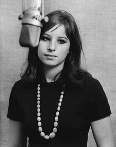 Unknown Black and White Photograph - Young Barbra Streisand in Recording Studio Fine Art Print Barbra Streisand, Cultura Pop, Beautiful Actresses, Beautiful Celebrities, Portrait, Old Hollywood, Hollywood Cinema, Black And White Photography, Role Models