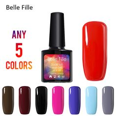 Belle Fille Nail Gel Polish UV Shining Colorful UV LED Polish Gel Soak Off Nail Art Long Lasting Gel Nail Polish