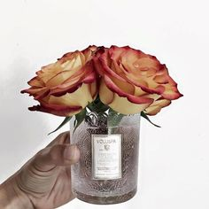 Why buy a vase when you can repurpose one from one of our candle vessels? Photo by: Recycled Jars, Ideal Home, Repurposed, Recycling, Vase, Candles, Instagram Posts, Pretty, Home Decor
