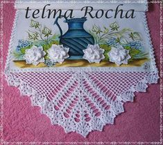 How to Crochet Wave Fan Edging Border Stitch Crochet Table Runner, Crochet Tablecloth, Crochet Doilies, Crochet Lace, Crochet Borders, Cross Stitch Borders, Crochet Patterns, Knitting Patterns, Christmas Gifts For Women
