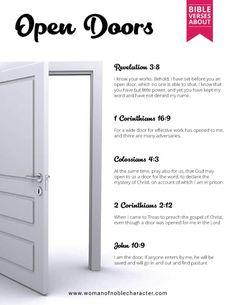 Bible verses about open doors
