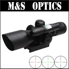 112.20$  Watch more here - http://aip4w.worlditems.win/all/product.php?id=32619432299 - 2.5-10X40 Green Red Illuminated Mil-dot  With Green laser Airsoft Guns Reticle Rifle Scope Optics Sight For Hunting