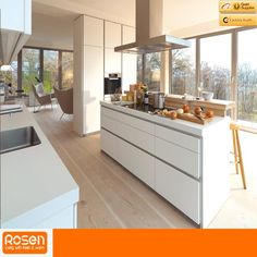 While the minimalist kitchen furniture of the brand may seem simple at first glance, typical features of a Bulthaup kitchen design are the clean lines Kitchen Design Open, Minimalist Kitchen Interiors, Small Kitchen, Kitchen Decor, Contemporary Kitchen Design, Contemporary Kitchen, Kitchen Handles, Minimalist Kitchen, Kitchen Design