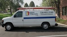 """Here is a vehicle that we lettered and put on a 6.5"""" stripe all the way around in Sept 2012. The logo was designed here at the Visual Edge! This was done with 3M certified wrap material with the appropriate laminate."""