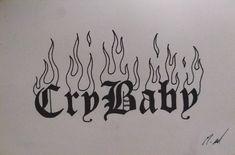 Lil Peep Tattoos, Dope Tattoos, Dream Tattoos, Pretty Tattoos, Future Tattoos, Tattos, Cry Baby Tattoo, Baby Tattoos, Mini Tattoos
