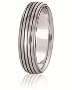 Ridge Contour Design Comfort Fit Wedding Band For Men And Women. Available With Various Finishes In Your Choice Of 14K & 18K White, Yellow & Rose Gold, Platinum & Palladium