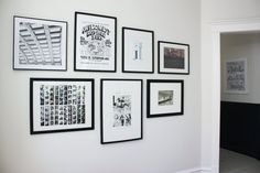 Marti & Jarrod's Graphic Modern Home. LOVE the collection of photo booth strips.