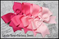 PINK COLLECTION Tails Down Hair Bows, girls bows, u pick size, solid color bows, big girl hair bows, back to school, international shipping on Etsy, $12.00