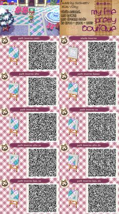 Animal Crossing New Leaf QR Code path
