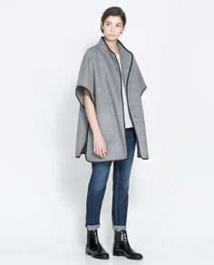 Image 1 of HAND-MADE WOOL CAPE from Zara