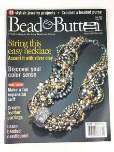 BEADED BEADING BEADS Fashion Handmade 1//2015 Magazine Book Necklace Pendant