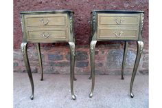 Pair Of #Vintage Louis Style Bedside Cabinets | Vinterior London  #design #interiors #cabriole #home #bedroom #style