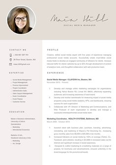 14 Best Marketing Resume Images