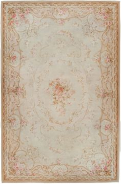 Antique Aubusson Carpet 45465  http://nazmiyalantiquerugs.com/antique-rugs/1801-1900/antique-aubusson-rug-45465/