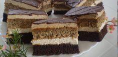 Useful articles and recipes: Charming Angelika slice Eta style Hungarian Desserts, Hungarian Cake, Hungarian Recipes, Cake Bars, Romanian Food, Winter Food, Cake Cookies, Cookie Recipes, Cake Decorating