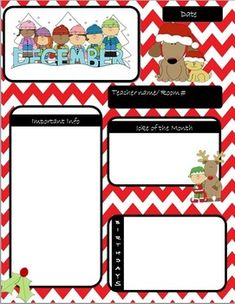 FREE editable newsletter templates in a holiday theme! | Holidays ...