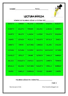 Cuaderno para mejorar la lectura. Lectura Rápida (7) Guerrilla, Reading Activities, School Projects, Ideas Creativas, Montessori, David, Spanish Class, Texts, Speed Reading