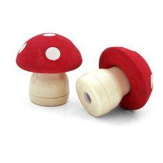 Mushroom Sharpener and Eraser. I felt like including this because it's just so darn cute.
