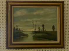 "River Scene Painting Signed Herbert   36"" Wide x 30"" High   $265  Dealer #282  Lula B's  1010 N. Riverfront Blvd. Dallas, TX 75207  Open Daily Mon. -- Sat. 10 to 6 Sun. 12 to 6  Read more: http://dallas.ebayclassifieds.com/home-decor/dallas/river-scene-painting-signed-herbert/?ad=40506640#ixzz3guejqIQE"