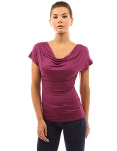 f47ade628b647 versatile AND nursing-friendly Cowl Neck, V Neck, Breastfeeding Clothes,  Magenta,