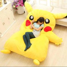 Crunchyroll - Huge Pikachu Bed to Be Released. NEED.