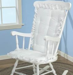 Baby Doll Bedding Carnation Eyelet Adult Rocking Chair Cushion Pad Set