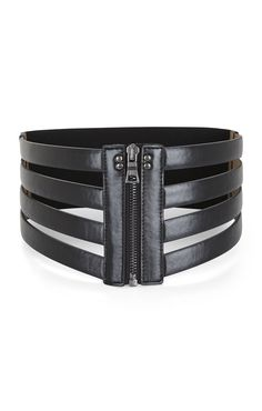 BCBG max azria cage zip waist belt with a flowy top/dress yaaaas Sewing Leather, Leather Belts, Leather Jewelry, Black Leather, Leather Accessories, Fashion Accessories, Jewelry Accessories, Corset Belt, Fashion Belts
