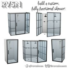 "ravasheencc: "" Keep It Clean DIY Shower Set Now your simmies can keep it clean their way! The Keep It Clean DIY Shower Set lets you build a fully functional shower by combining the pieces in the set. Los Sims 4 Mods, Sims 4 Game Mods, Diy Shower, Shower Set, Sims 4 Collections, Vêtement Harris Tweed, The Sims 4 Pc, Sims Cc, Muebles Sims 4 Cc"