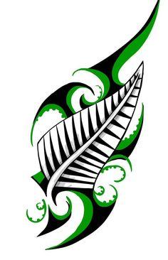 Maori Tribal Design New Zealand Silberfarn-Farbtattoo-Blitz Maori Tattoos, Tattoo Maori Perna, Maori Tattoo Frau, Ta Moko Tattoo, Hawaiianisches Tattoo, Marquesan Tattoos, Tattoo Motive, Samoan Tattoo, Tattoo Flash