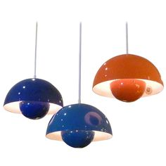 Iconic Verner Panton Flowerpot Pendant Lamps | From a unique collection of antique and modern chandeliers and pendants  at http://www.1stdibs.com/furniture/lighting/chandeliers-pendant-lights/