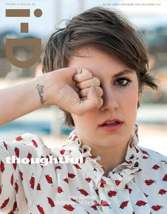 Lena Dunham...love her hair in this pic, the shorter cut is VERY flattering on her.  She's super talented too!
