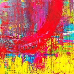 FESTIVAL OF COLORS, acrylic on canvas, 110 x 110 cm, colorfull abstract art by Eva Tikova, HAPPY COLORS COLLECTION Happy Colors, Abstract Art, Canvas, Artwork, Painting, Collection, Tela, Work Of Art, Painting Art