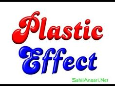 How to make plastic effect on text with CorelDraw - YouTube