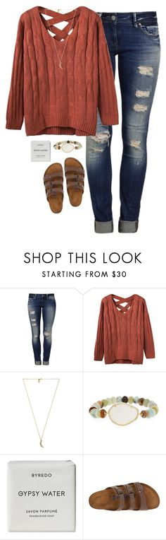 """""""Untitled #1173"""" by lilypackard ❤ liked on Polyvore featuring Mavi, Rebecca Minkoff, Tai, Byredo and Birkenstock"""