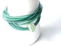 Wickelarmbänder - Wickelarmband, Armband in grün - ein Designerstück von Modeschmuckstuebchen-Andrea bei DaWanda