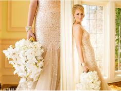 Love the bouquet! Emerald and Gold Wedding Inspiration / Mike Larson / Sparkly Details / www.STYLEUNVEILED.com