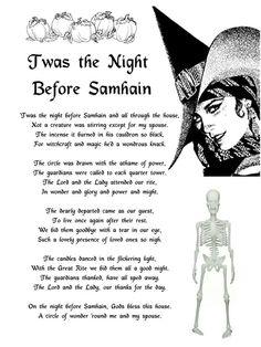 Twas the night before samhain