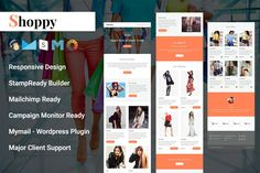 Ad: Shoppy- Responsive Email Template by Pennyblack Templates on Shoppy- Multipurpose Responsive Email Template Shoppy- Multipurpose responsive email template is suitable for Fashion, Sale, Deal, business, Business Brochure, Business Card Logo, Business Marketing, Penny Black, Mail Chimp Templates, Email Templates, Design Templates, Campaign Monitor, Responsive Email