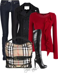 """""""Crimson Chic"""" by orysa on Polyvore"""