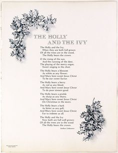 """The Holly And The Ivy"","