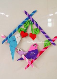 Origami And Quilling, Origami Bird, Diy Paper, Paper Art, Paper Crafts, Multicultural Crafts, Diy And Crafts, Crafts For Kids, Graphic Organizers