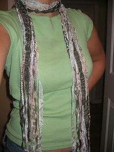 ribbon scarf - Tutorial - CLOTHING - DIY, tutorials, sewing, cooking, paper crafts, needlework, knitting, crochet, swaps and so much more on Craftster.org
