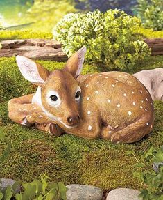 Anyone who likes animals will be delighted to add this Resting Animal Garden Statue to their yard. This realistic statue depicts an animal curled up and resting