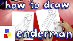 Easy steps to draw Enderman from Minecraft!