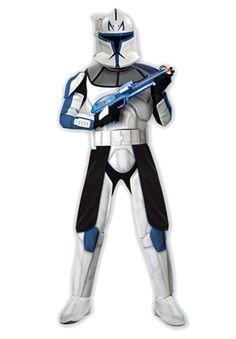 Star Wars Clone Wars Deluxe Clone Trooper Captain Rex Adult Costume #Halloween #costumes #starwarsparty
