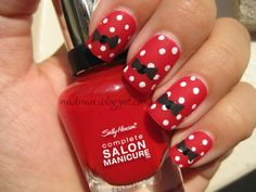 Minnie+Mouse+Acrylic+Nail+Designs | little black bows with black acrylic paint she prefers using acrylic ...